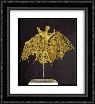 The Bat 20x22 Black or Gold Ornate Framed and Double Matted Art Print by Germaine Richier