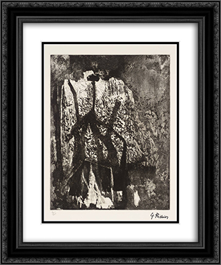 Untitled 20x24 Black or Gold Ornate Framed and Double Matted Art Print by Germaine Richier