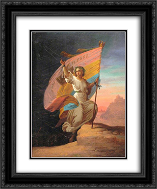 February 11th, 1866 - The Modern Romania 20x24 Black or Gold Ornate Framed and Double Matted Art Print by Gheorghe Tattarescu