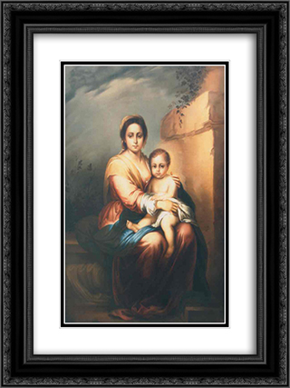 Maternity 18x24 Black or Gold Ornate Framed and Double Matted Art Print by Gheorghe Tattarescu