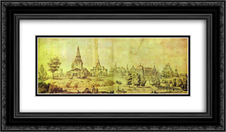 Kolomenskoye 24x14 Black or Gold Ornate Framed and Double Matted Art Print by Giacomo Quarenghi