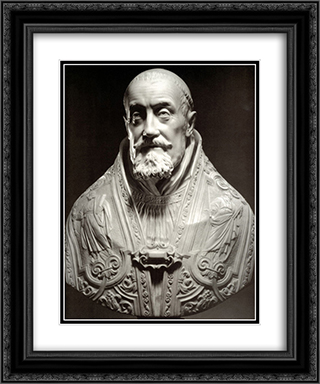 Bust of Pope Gregory XV 20x24 Black or Gold Ornate Framed and Double Matted Art Print by Gian Lorenzo Bernini