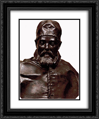 Bust of Pope Urban VIII 20x24 Black or Gold Ornate Framed and Double Matted Art Print by Gian Lorenzo Bernini
