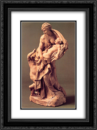 Charity Tomb of Urban VIII 18x24 Black or Gold Ornate Framed and Double Matted Art Print by Gian Lorenzo Bernini
