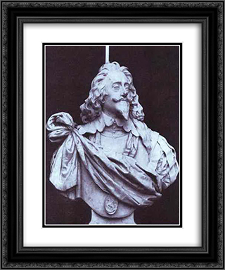 Charles I, King of England 20x24 Black or Gold Ornate Framed and Double Matted Art Print by Gian Lorenzo Bernini