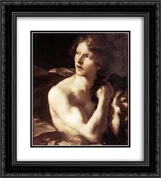David with the Head of Goliath 20x22 Black or Gold Ornate Framed and Double Matted Art Print by Gian Lorenzo Bernini