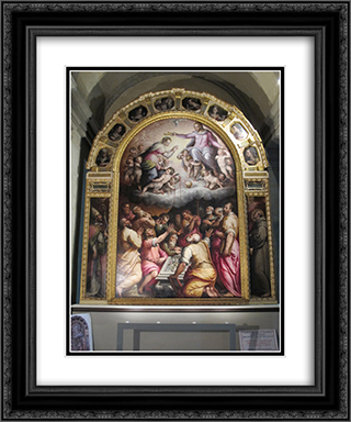 Assumption of the Virgin 20x24 Black or Gold Ornate Framed and Double Matted Art Print by Giorgio Vasari