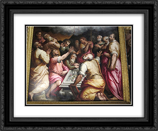 Assumption of the Virgin (detail) 24x20 Black or Gold Ornate Framed and Double Matted Art Print by Giorgio Vasari