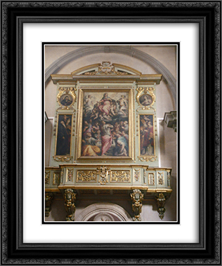Badia Fiorentina church 20x24 Black or Gold Ornate Framed and Double Matted Art Print by Giorgio Vasari