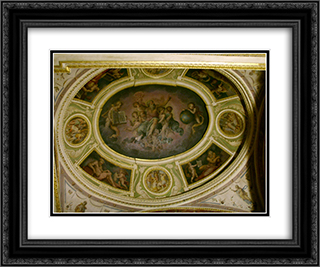 Chapel with the Lord in glory 24x20 Black or Gold Ornate Framed and Double Matted Art Print by Giorgio Vasari