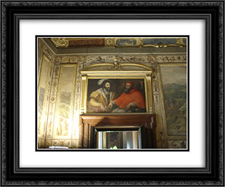 Clemenet VII and Francis I of France 24x20 Black or Gold Ornate Framed and Double Matted Art Print by Giorgio Vasari