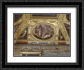 Clement VII returns from France to Rome 24x20 Black or Gold Ornate Framed and Double Matted Art Print by Giorgio Vasari