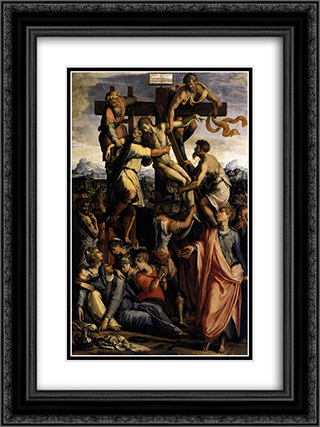 Deposition from the Cross 18x24 Black or Gold Ornate Framed and Double Matted Art Print by Giorgio Vasari