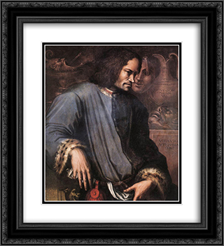 Lorenzo de Medici 'The Magnificent' 20x22 Black or Gold Ornate Framed and Double Matted Art Print by Giorgio Vasari
