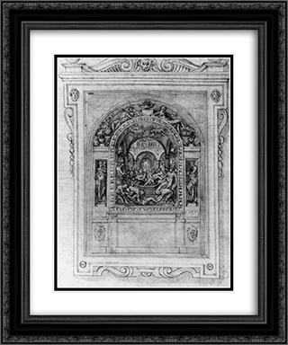 Martyrdom of St. Sigismund 20x24 Black or Gold Ornate Framed and Double Matted Art Print by Giorgio Vasari