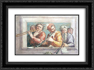 Musicians 24x18 Black or Gold Ornate Framed and Double Matted Art Print by Giorgio Vasari