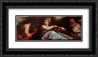 Patience 24x14 Black or Gold Ornate Framed and Double Matted Art Print by Giorgio Vasari