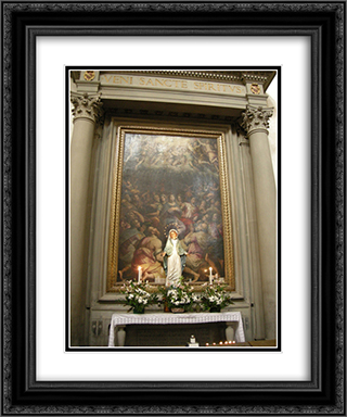 Pentecost 20x24 Black or Gold Ornate Framed and Double Matted Art Print by Giorgio Vasari