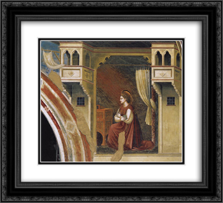 Annunciation The Virgin Receiving the Message 22x20 Black or Gold Ornate Framed and Double Matted Art Print by Giotto