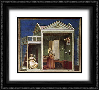 Annunciation to St Anne 22x20 Black or Gold Ornate Framed and Double Matted Art Print by Giotto