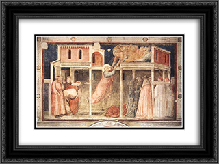 Ascension of the Evangelist 24x18 Black or Gold Ornate Framed and Double Matted Art Print by Giotto