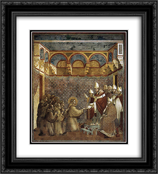 Confirmation of the Rule 20x22 Black or Gold Ornate Framed and Double Matted Art Print by Giotto