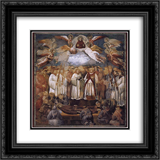 Death and Ascension of St. Francis 20x20 Black or Gold Ornate Framed and Double Matted Art Print by Giotto
