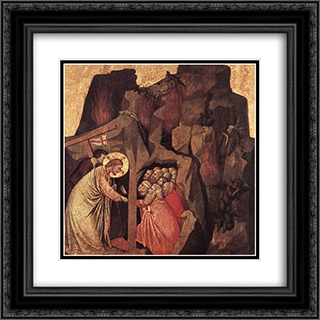 Descent into Limbo 20x20 Black or Gold Ornate Framed and Double Matted Art Print by Giotto