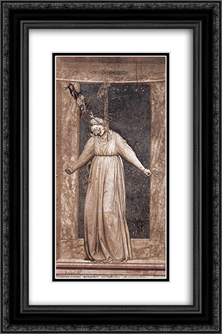 Desperation 16x24 Black or Gold Ornate Framed and Double Matted Art Print by Giotto