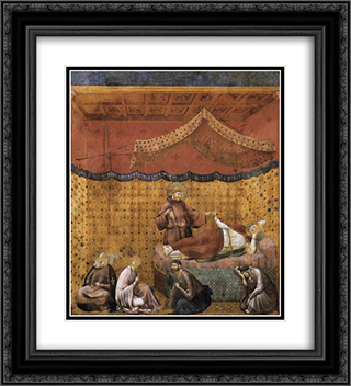 Dream of St. Gregory 20x22 Black or Gold Ornate Framed and Double Matted Art Print by Giotto