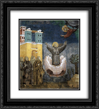 Ecstasy of St. Francis 20x22 Black or Gold Ornate Framed and Double Matted Art Print by Giotto