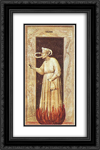 Envy 16x24 Black or Gold Ornate Framed and Double Matted Art Print by Giotto