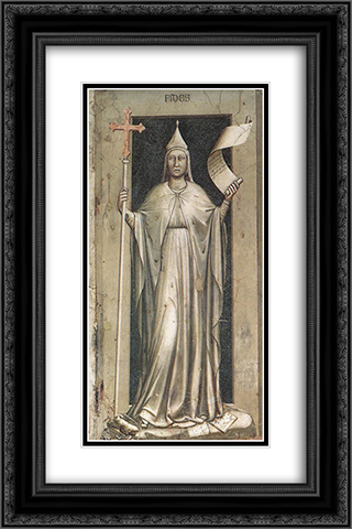 Faith 16x24 Black or Gold Ornate Framed and Double Matted Art Print by Giotto