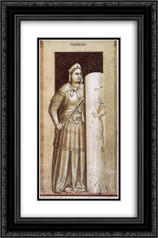 Fortitude 16x24 Black or Gold Ornate Framed and Double Matted Art Print by Giotto