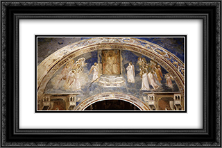 God Sends Gabriel to the Virgin 24x16 Black or Gold Ornate Framed and Double Matted Art Print by Giotto