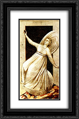 Inconstancy 16x24 Black or Gold Ornate Framed and Double Matted Art Print by Giotto