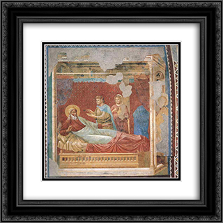 Isaac Rejecting Esau 20x20 Black or Gold Ornate Framed and Double Matted Art Print by Giotto