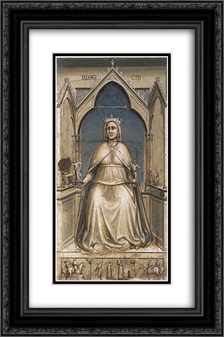 Justice 16x24 Black or Gold Ornate Framed and Double Matted Art Print by Giotto
