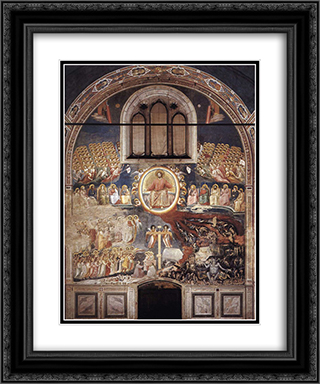 Last Judgment 20x24 Black or Gold Ornate Framed and Double Matted Art Print by Giotto