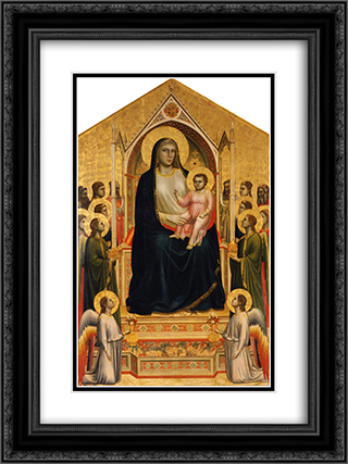 Madonna in Maest (Ognissanti Madonna) 18x24 Black or Gold Ornate Framed and Double Matted Art Print by Giotto