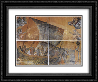 Nacelle 24x20 Black or Gold Ornate Framed and Double Matted Art Print by Giotto