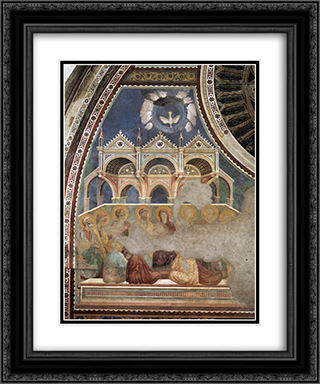 Pentecost 20x24 Black or Gold Ornate Framed and Double Matted Art Print by Giotto