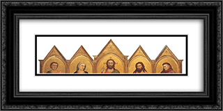 Peruzzi Altarpiece 24x12 Black or Gold Ornate Framed and Double Matted Art Print by Giotto