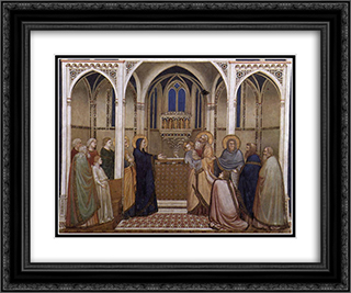 Presentation of Christ in the Temple 24x20 Black or Gold Ornate Framed and Double Matted Art Print by Giotto