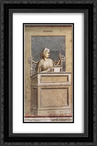 Prudence 16x24 Black or Gold Ornate Framed and Double Matted Art Print by Giotto