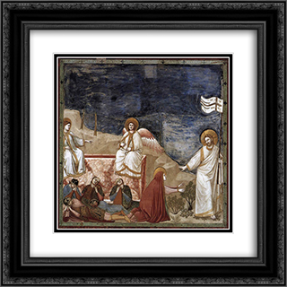 Resurrection (Noli me tangere) 20x20 Black or Gold Ornate Framed and Double Matted Art Print by Giotto