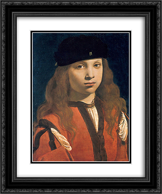 Francesco Sforza, count of Pavia 20x24 Black or Gold Ornate Framed and Double Matted Art Print by Giovanni Antonio Boltraffio