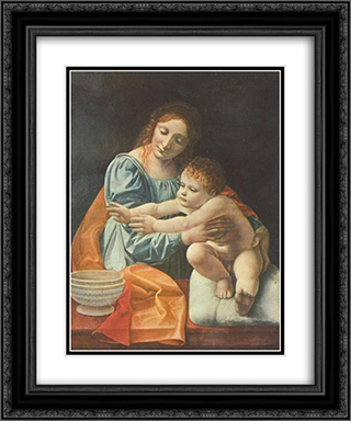 Madonna and Child 20x24 Black or Gold Ornate Framed and Double Matted Art Print by Giovanni Antonio Boltraffio