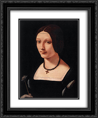 Portrait of a Lady as St. Lucy 20x24 Black or Gold Ornate Framed and Double Matted Art Print by Giovanni Antonio Boltraffio