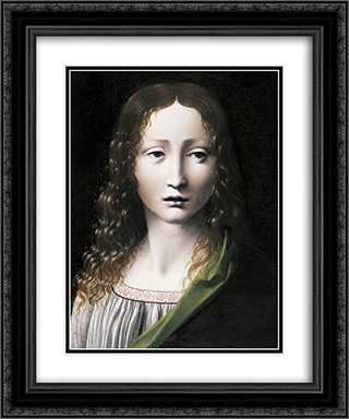 The Adolescent Saviour 20x24 Black or Gold Ornate Framed and Double Matted Art Print by Giovanni Antonio Boltraffio